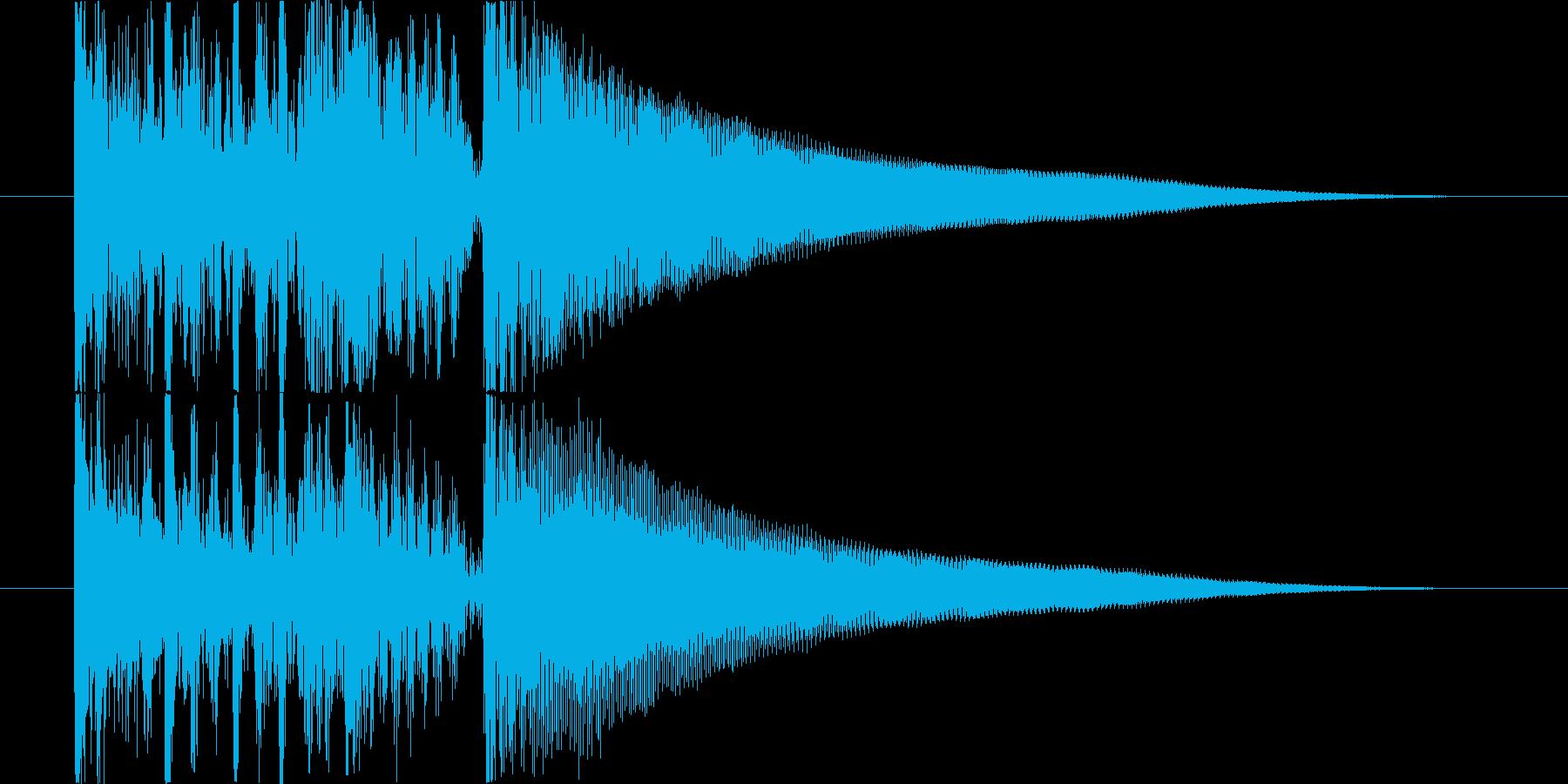 パーカッシブなアコギのジングルの再生済みの波形