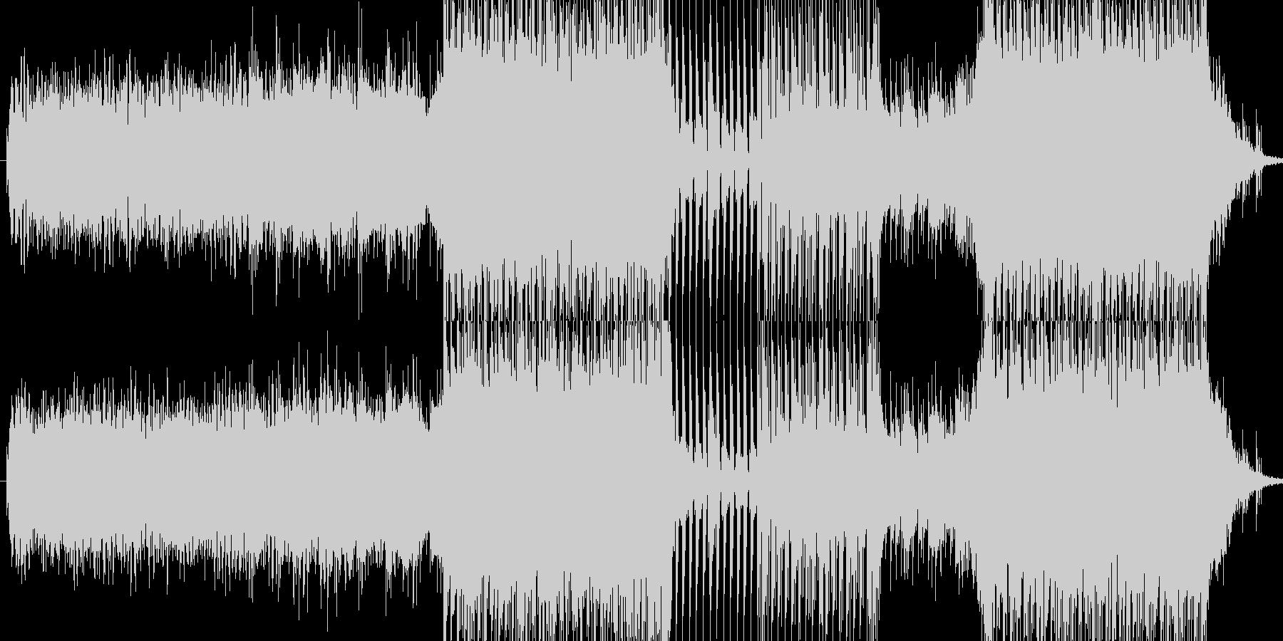 ピアノをフィーチャーした哀愁感あるEDMの未再生の波形