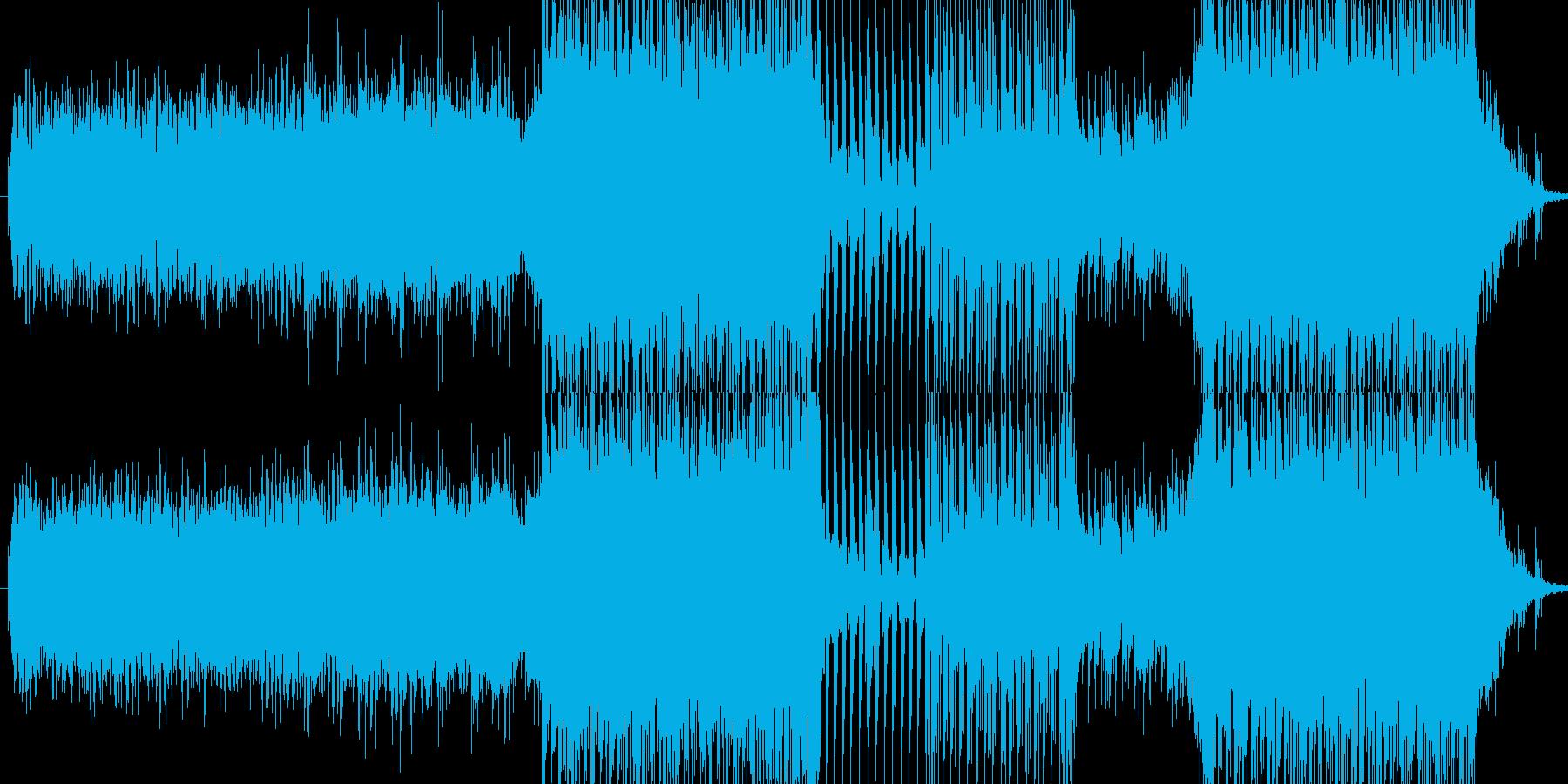 ピアノをフィーチャーした哀愁感あるEDMの再生済みの波形