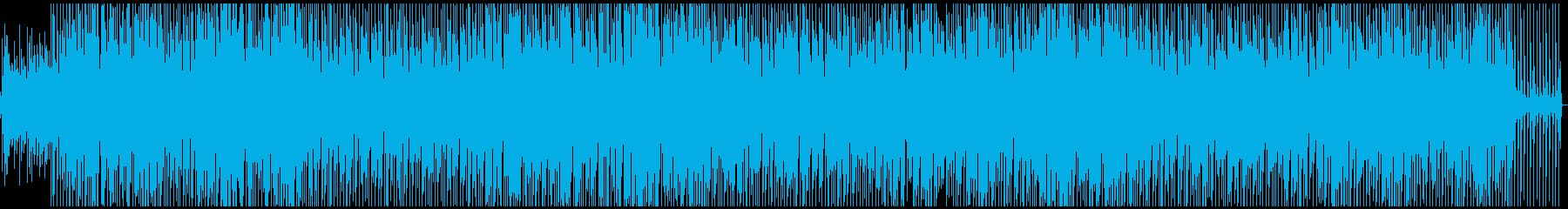 明るく開放感のあるテクノ風の再生済みの波形