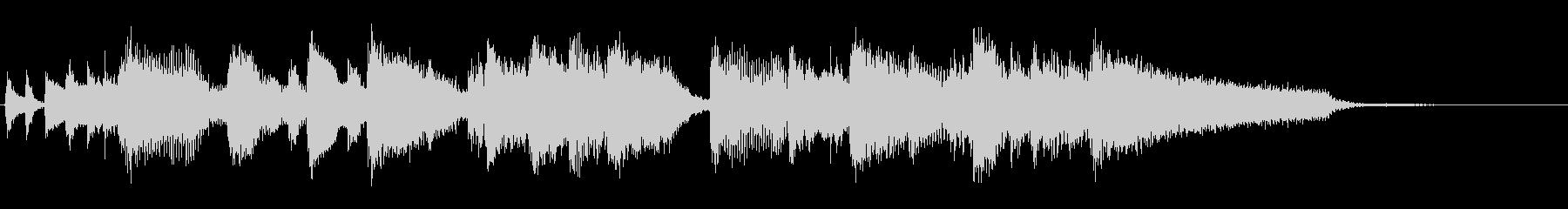 アイキャッチ向け、ジャズピアノのジングルの未再生の波形