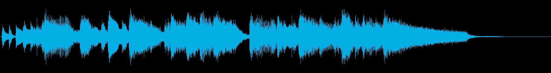 アイキャッチ向け、ジャズピアノのジングルの再生済みの波形