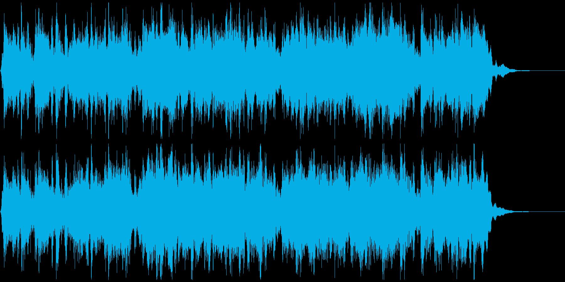 常夏系軽快ジャズサンバ◆CM向け15秒曲の再生済みの波形