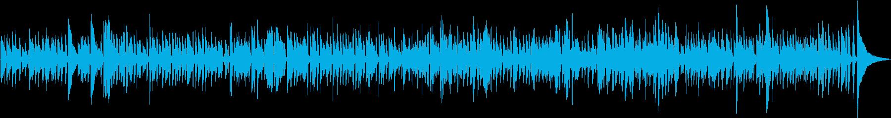軽快でおしゃれなボサノバギターの再生済みの波形