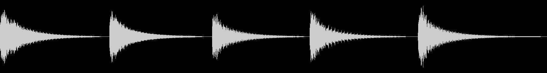 ムーグ、ヒット、インパクト、レゾネ...の未再生の波形
