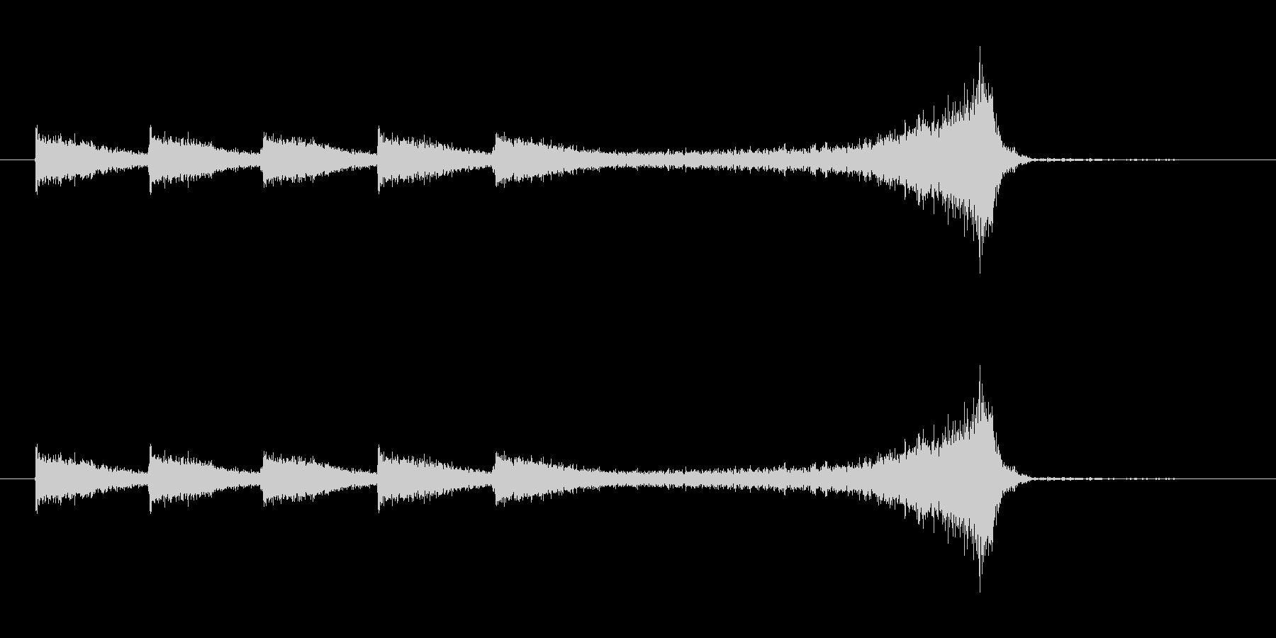 ヒュンヒュン(風が舞い上がる音)の未再生の波形
