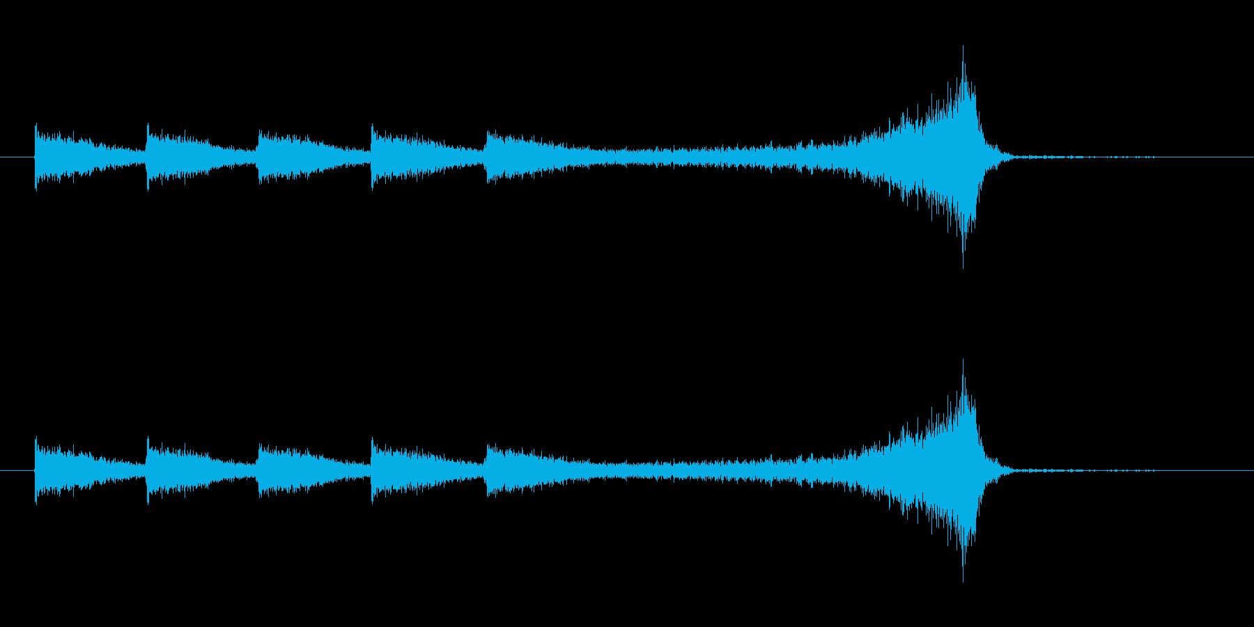 ヒュンヒュン(風が舞い上がる音)の再生済みの波形