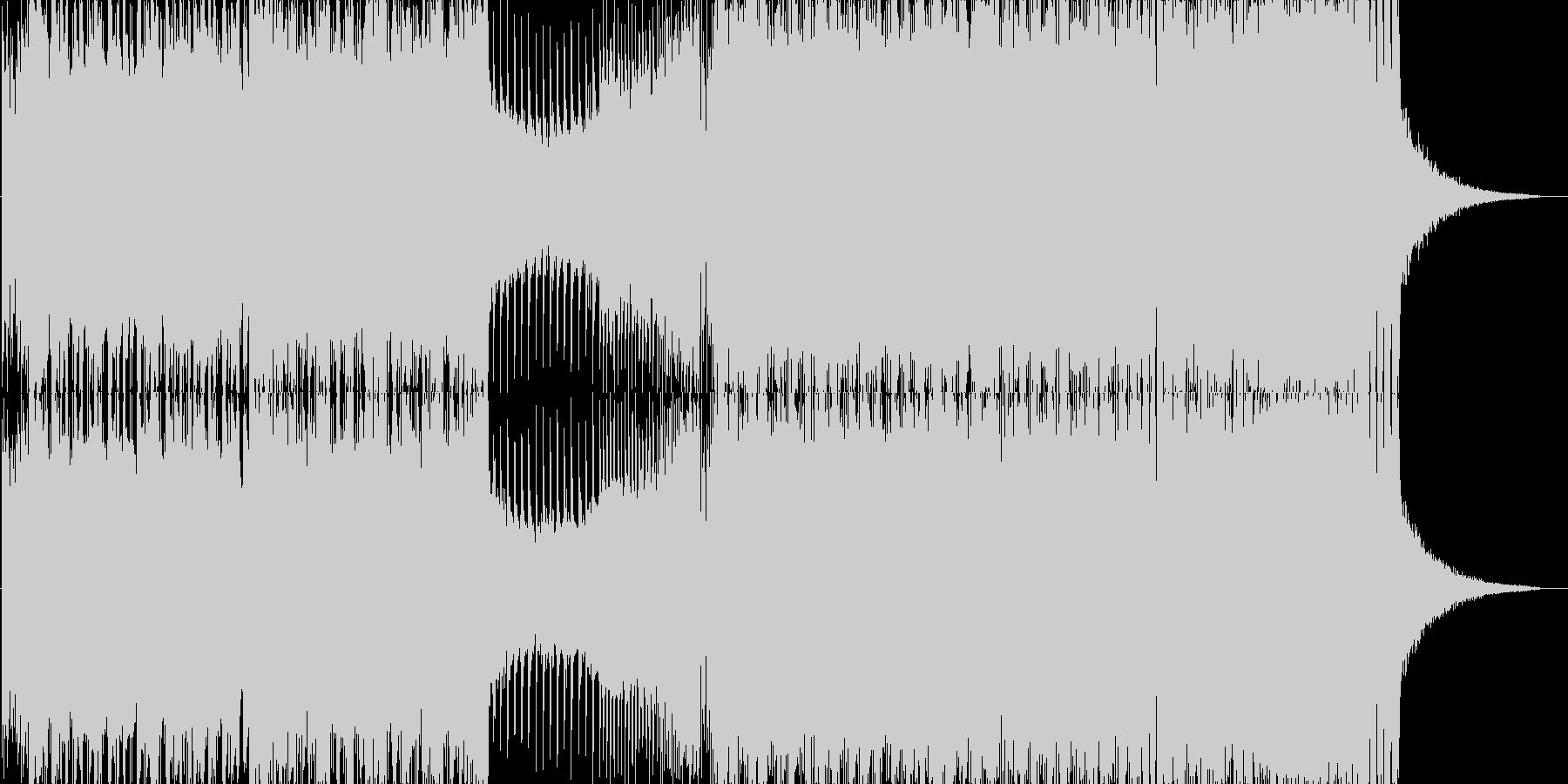 クール系ローテンポEDMの未再生の波形