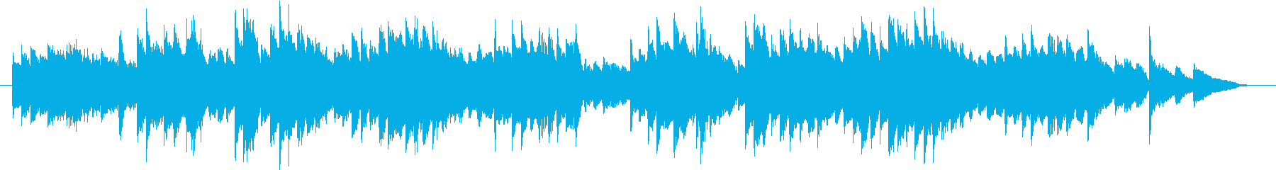 English folk song simple piano fast's reproduced waveform