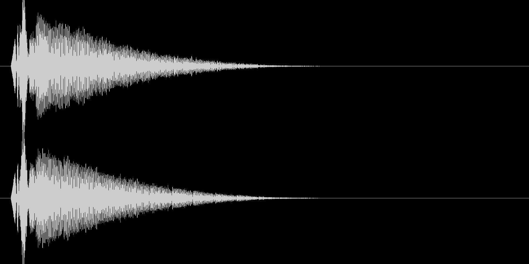ドゥコーーン(衝撃波)の未再生の波形