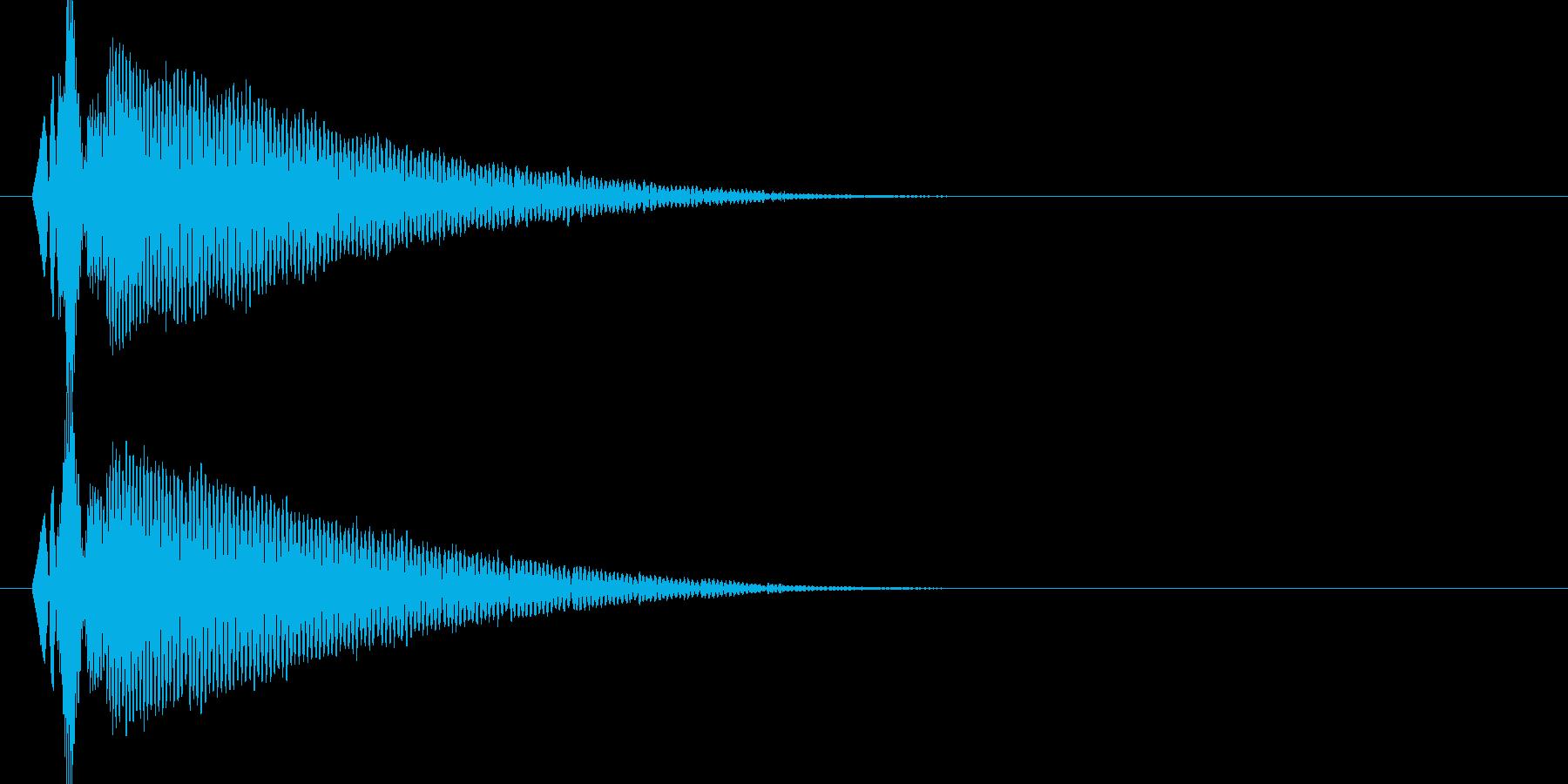 ドゥコーーン(衝撃波)の再生済みの波形