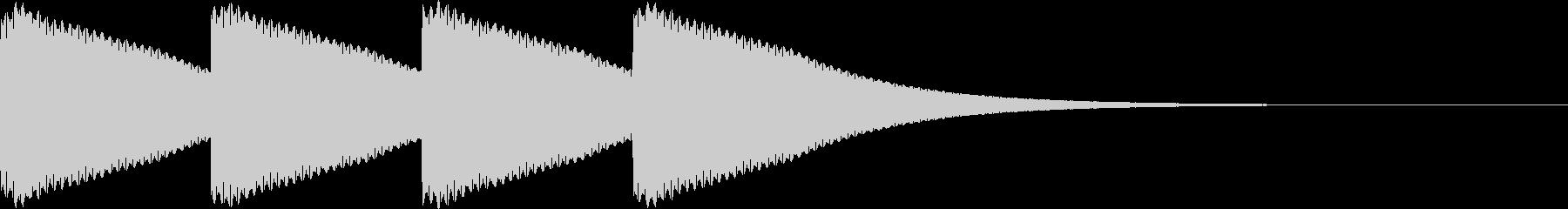 ゴーン...。時計の鐘C(低・短)の未再生の波形