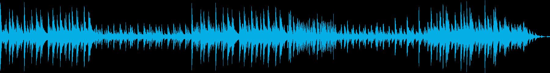 森の中のファンシーな楽曲の再生済みの波形
