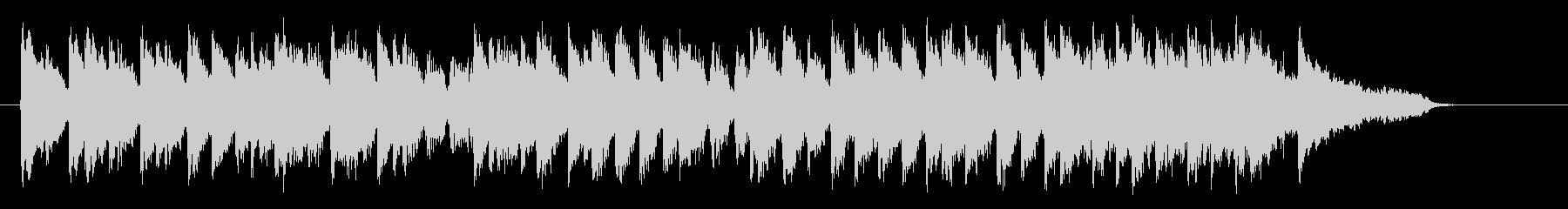 可憐で明るいピアノジングルの未再生の波形