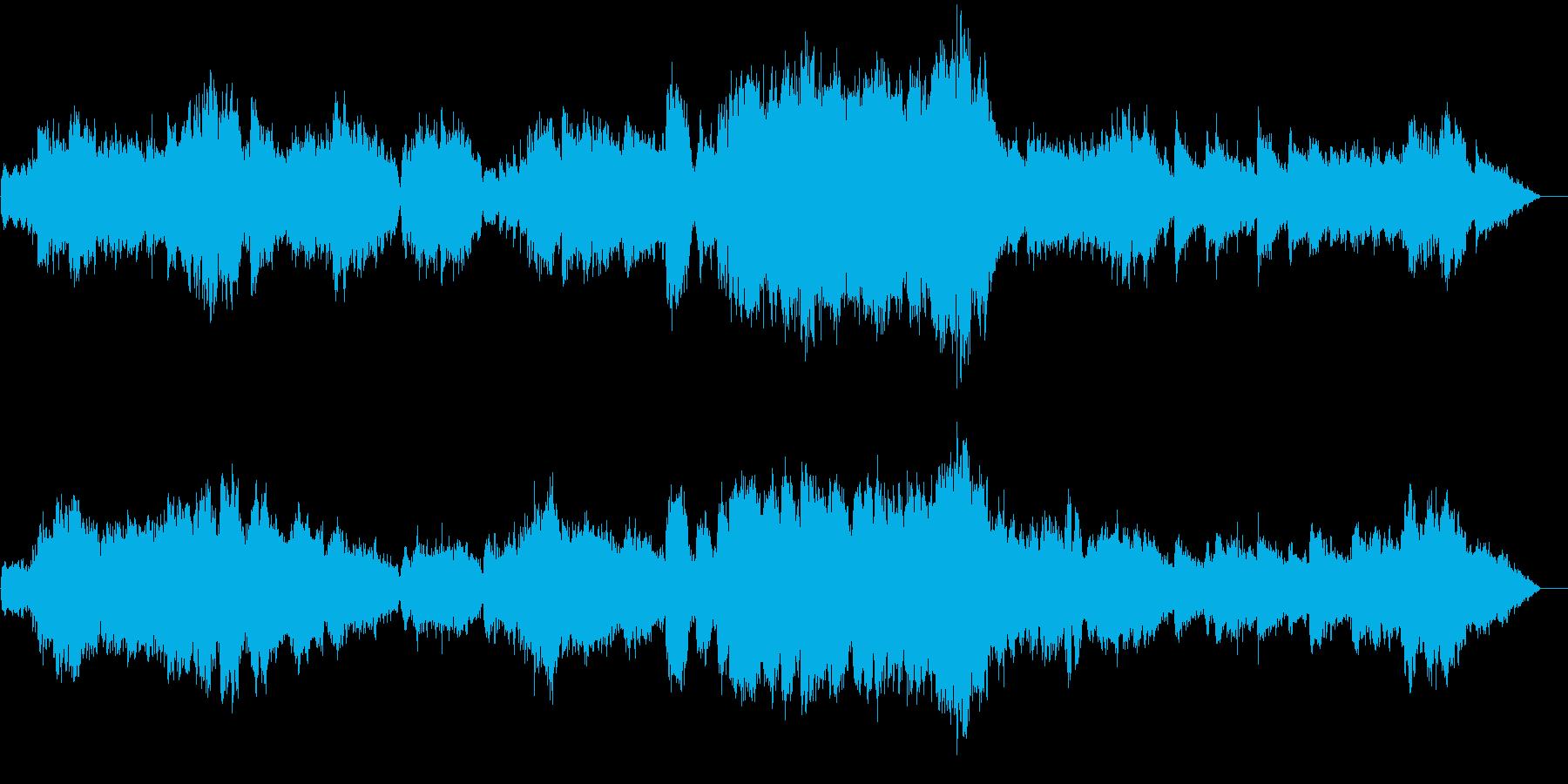 穏やかな旋律の柔らいオーケストラサウンドの再生済みの波形