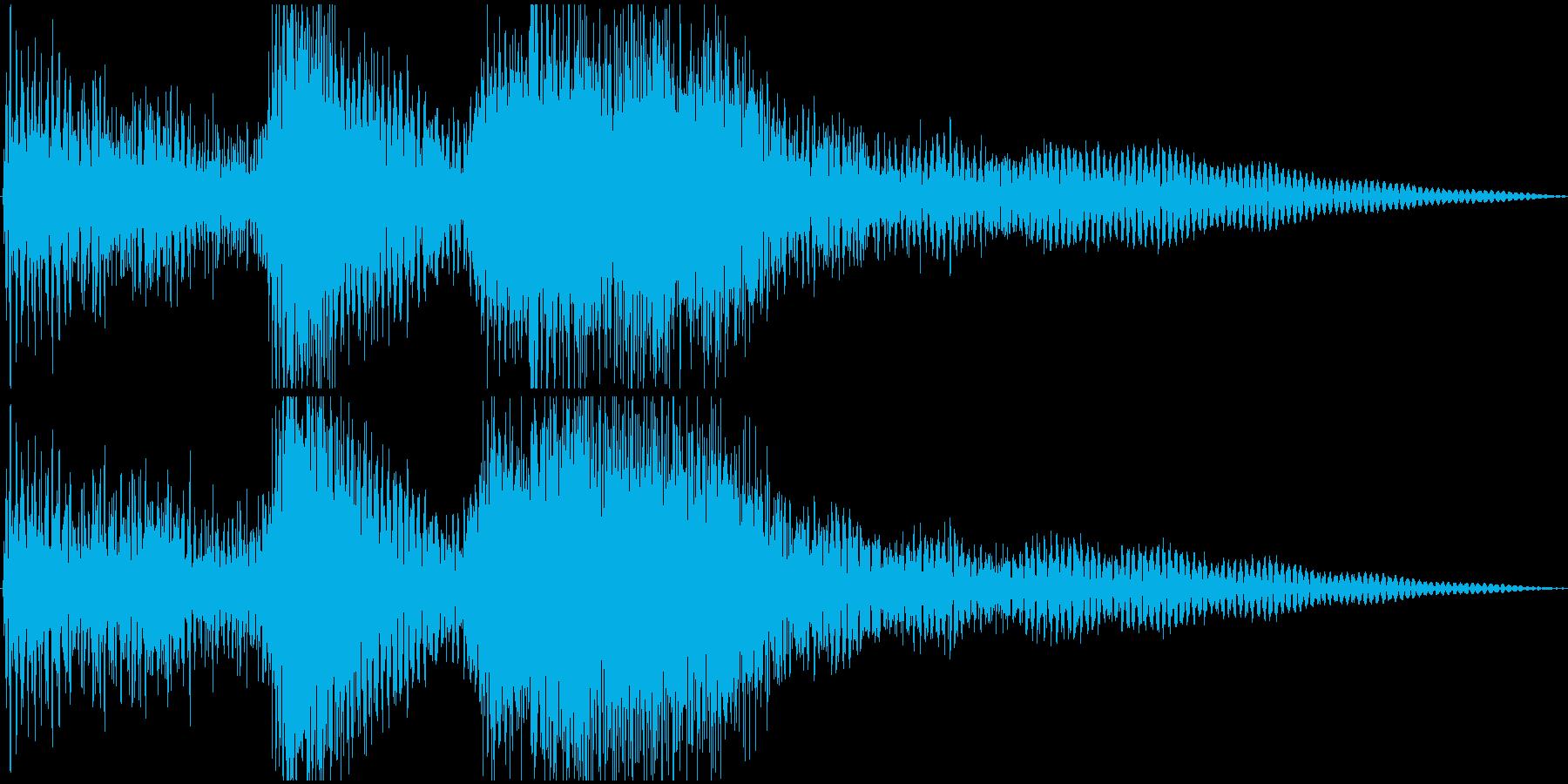 軽く短めのシンフォニー系ファンファーレの再生済みの波形