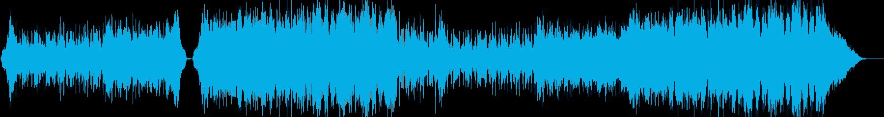 何かが迫っているようなシネマティック曲の再生済みの波形
