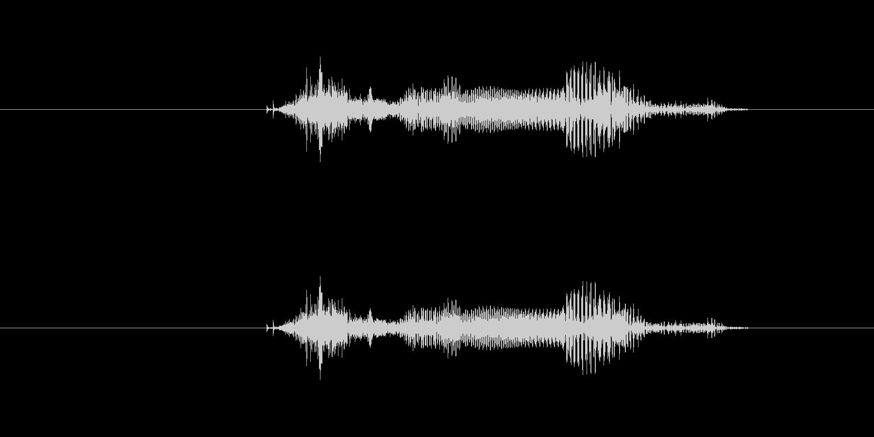 ツモ の未再生の波形