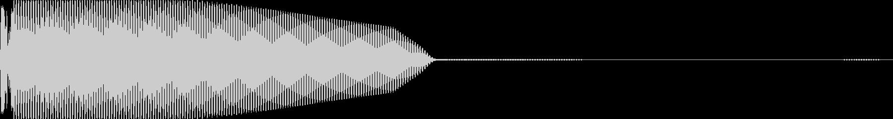 ちょっとワルそうなサブベースキック音の未再生の波形