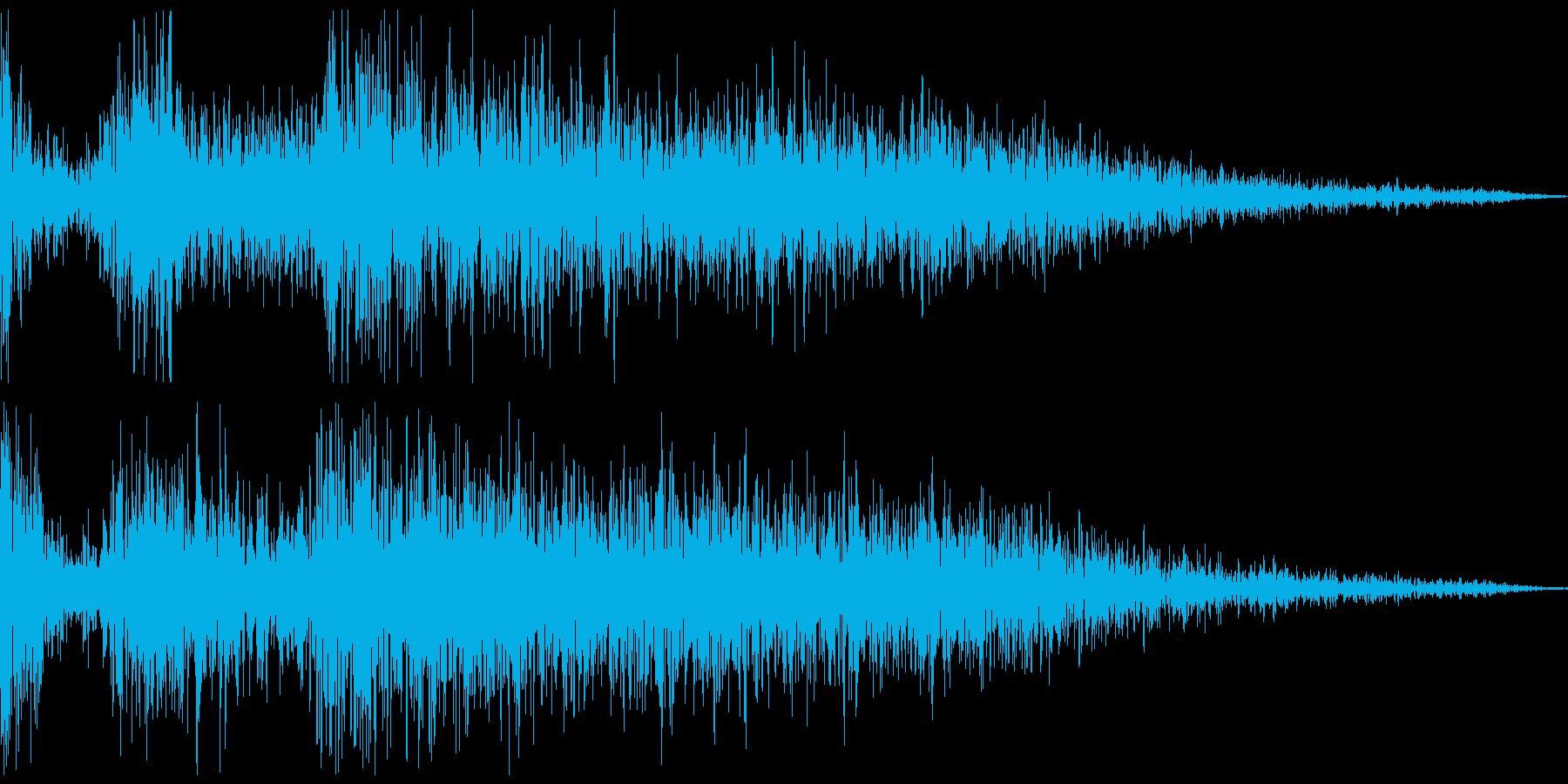 カカーンッ(睨む、対峙する、見得を切る)の再生済みの波形