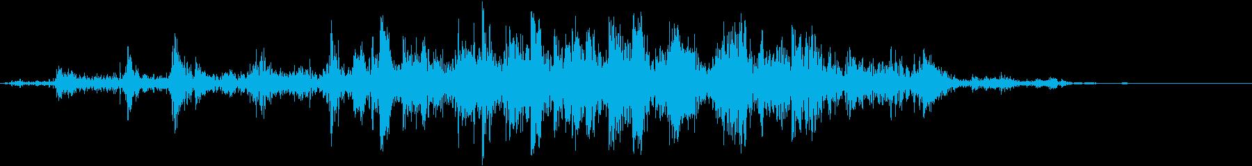 羽ばたきの再生済みの波形