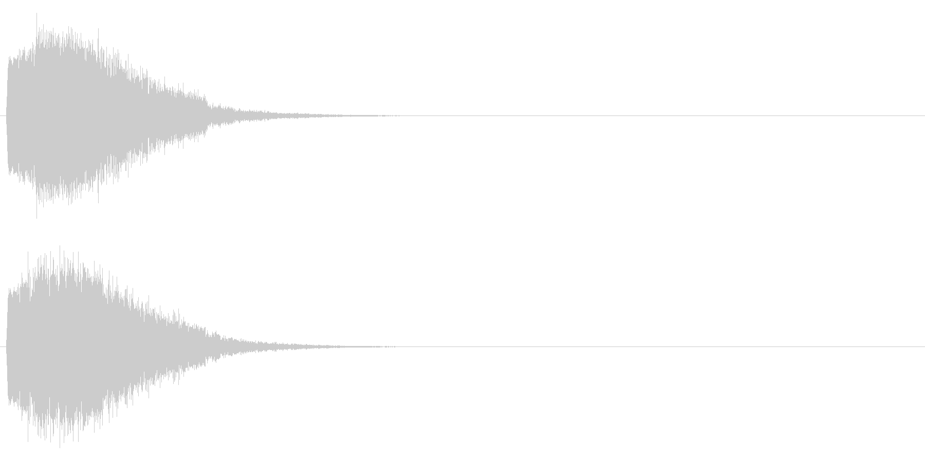 「キュイン!」輝く・レーザー発射の未再生の波形
