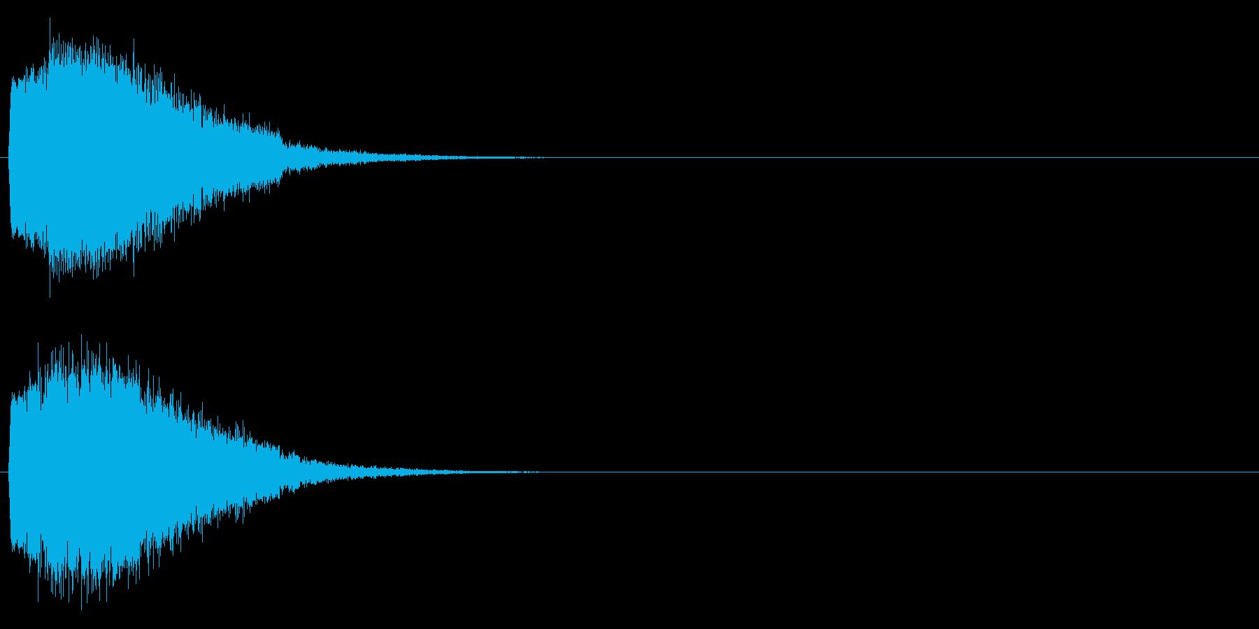 「キュイン!」輝く・レーザー発射の再生済みの波形