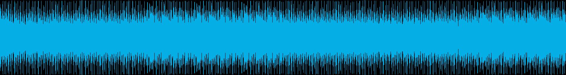 定番でシンプルなハウスの再生済みの波形