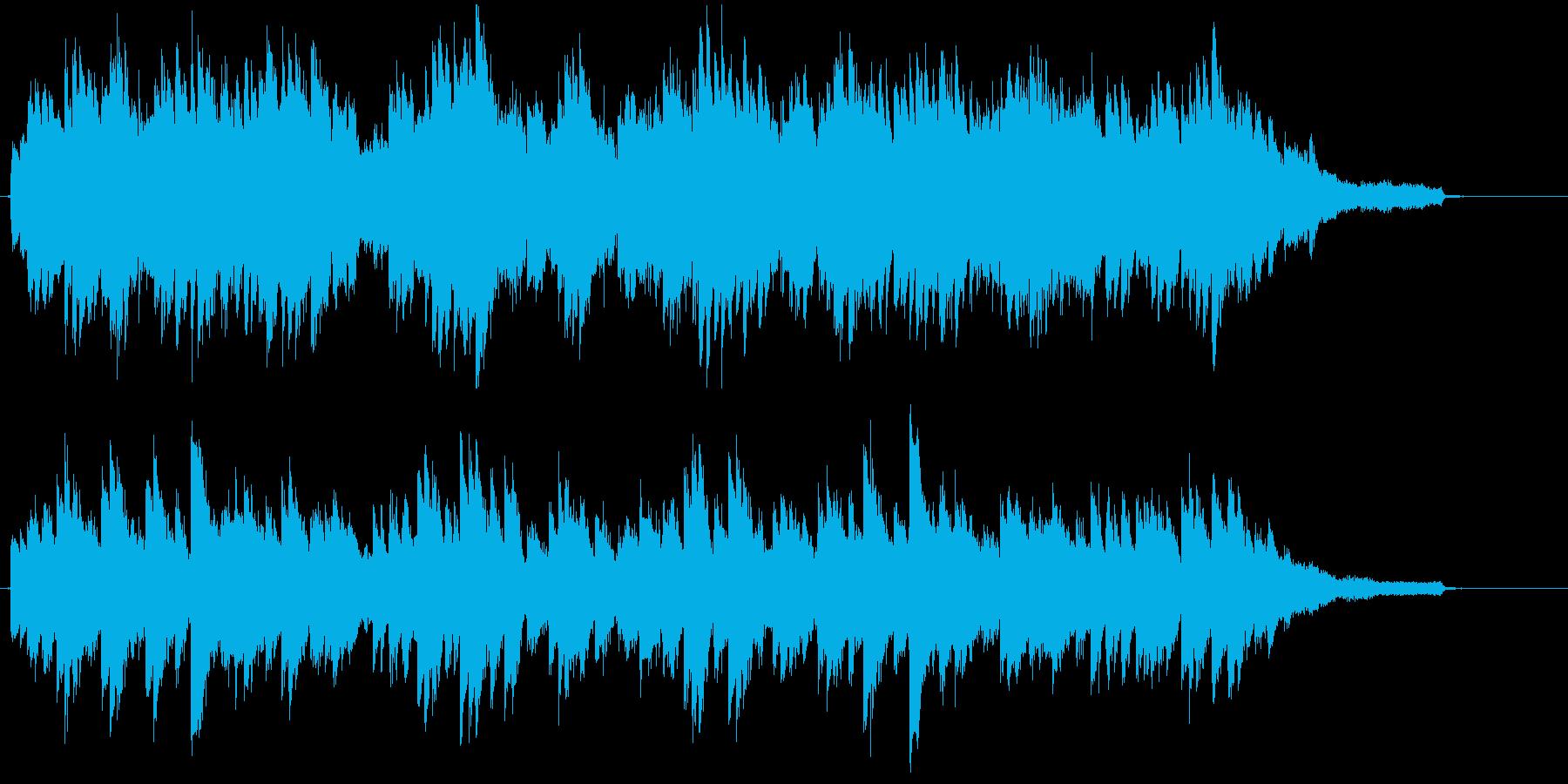 穏やかな雰囲気のピアノソロBGMの再生済みの波形
