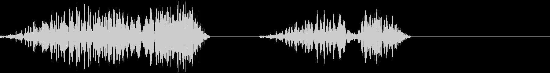 DJプレイ スクラッチ・ノイズ 176の未再生の波形