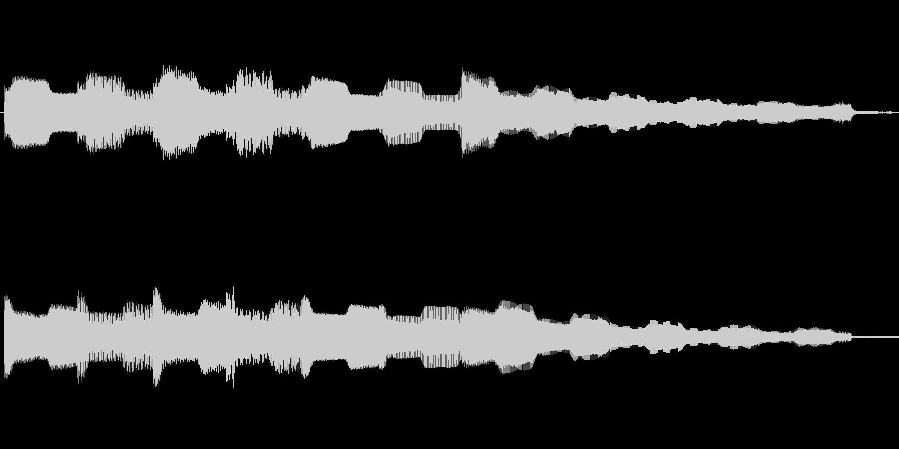 エレピでのゆったりしたフレーズですの未再生の波形