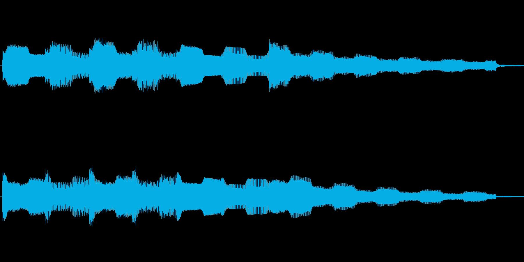 エレピでのゆったりしたフレーズですの再生済みの波形