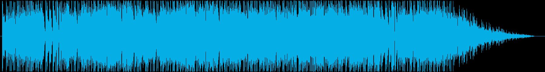 シューティングゲーム風BGMの再生済みの波形