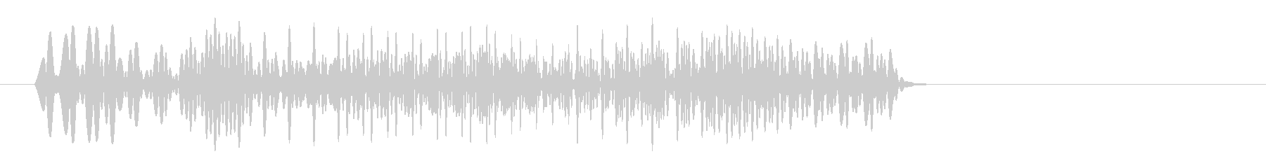 ボワォ(電子的な音)の未再生の波形