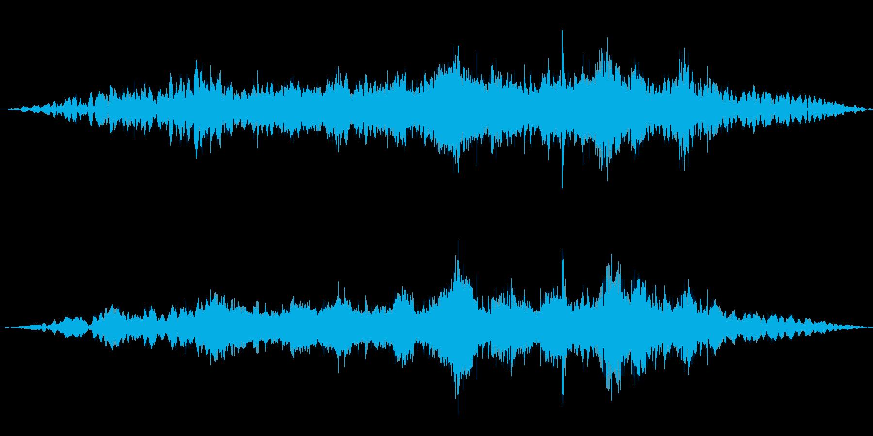 1980年代に左から右へ中距離のキ...の再生済みの波形