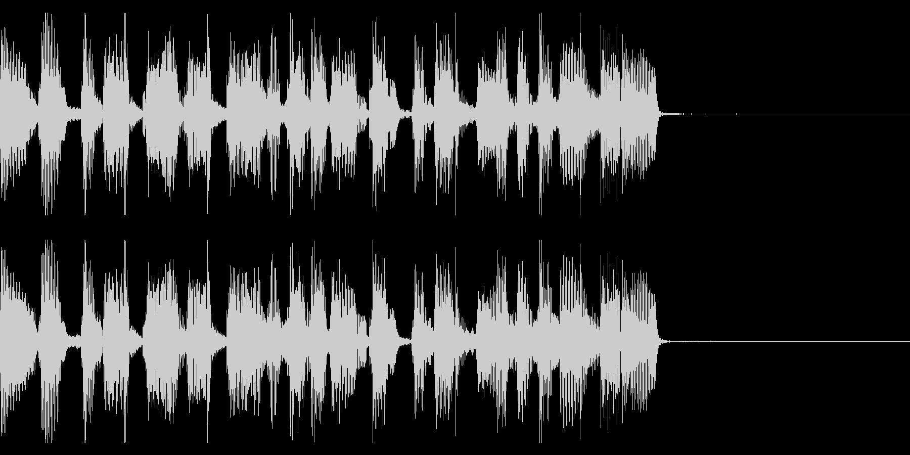 シンプルなギターポップのジングル2の未再生の波形