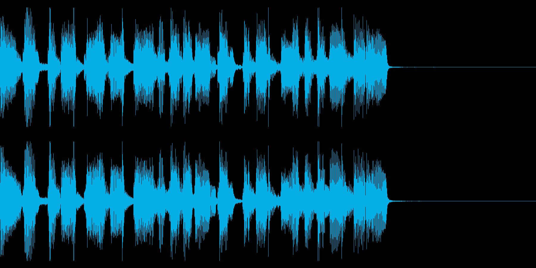 シンプルなギターポップのジングル2の再生済みの波形