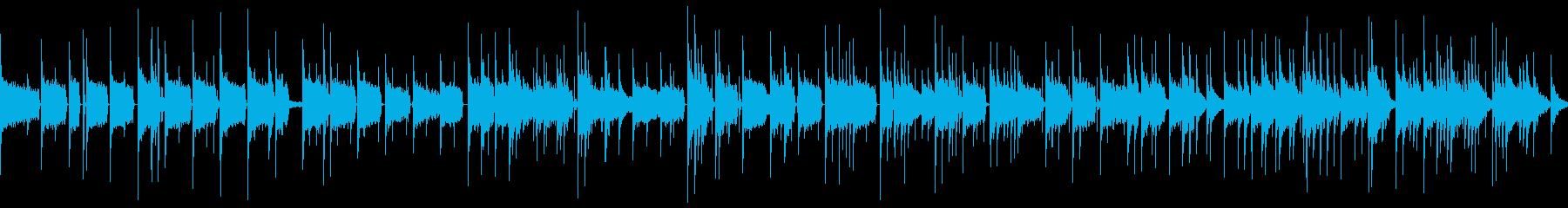 高い音でできたリズムの上に、エレキベー…の再生済みの波形