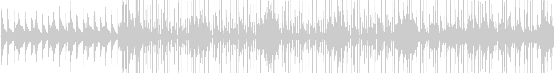 ピアノ+ドラムのポップなBGMの未再生の波形