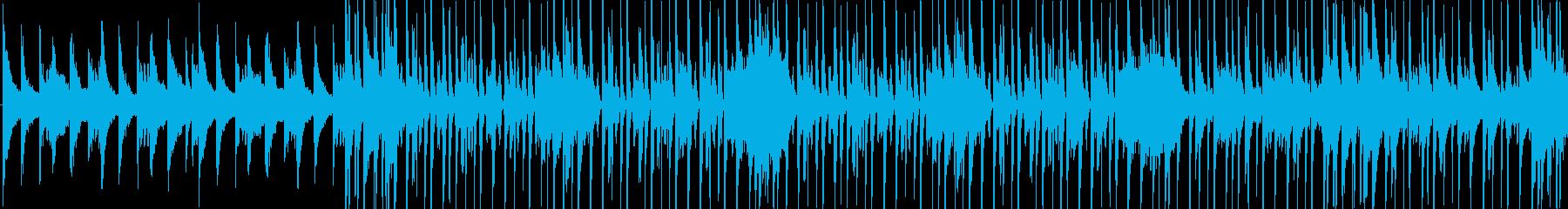 ピアノ+ドラムのポップなBGMの再生済みの波形