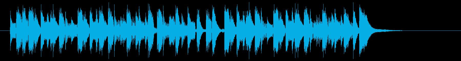 リズミカルでキャッチ―なピアノジングルの再生済みの波形