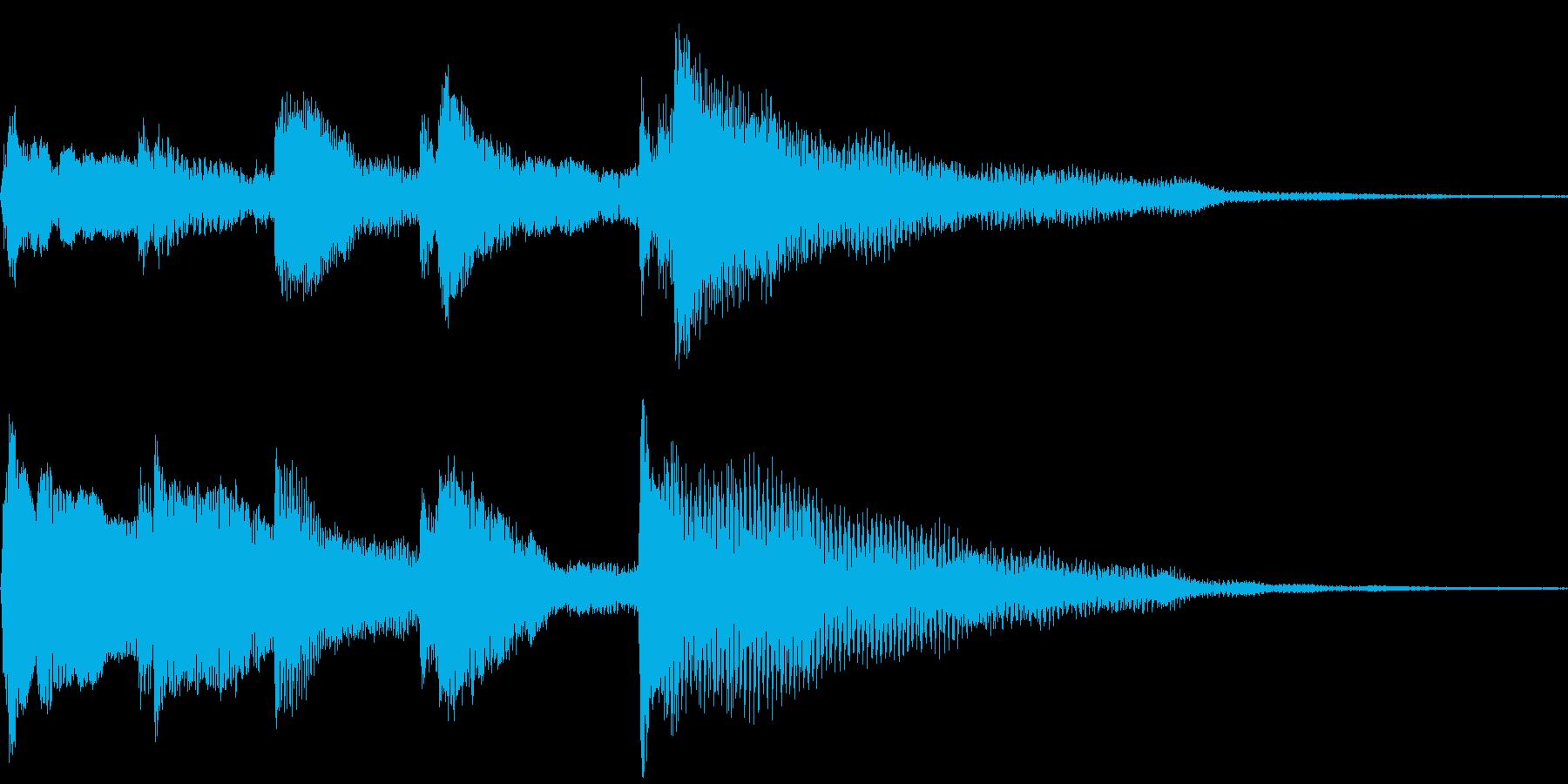 眠りの休息と癒しの効果音チャイムの再生済みの波形
