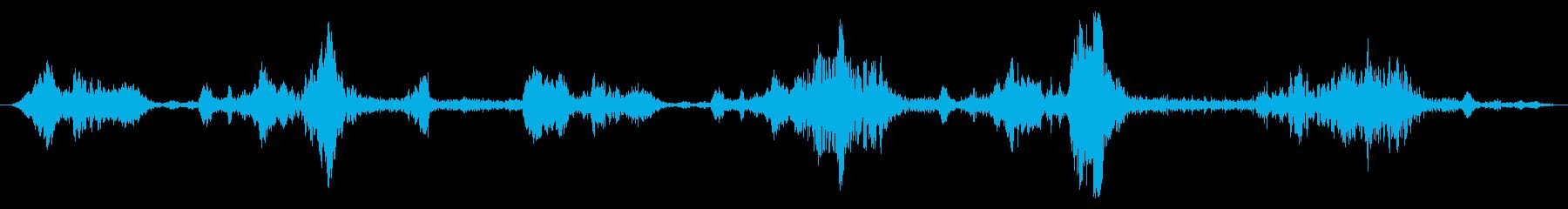 油井:ポンプジャック:稼働中、ゆっ...の再生済みの波形
