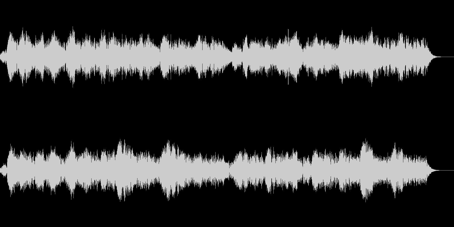 ヒーリング感のある優しい音色のBGMの未再生の波形
