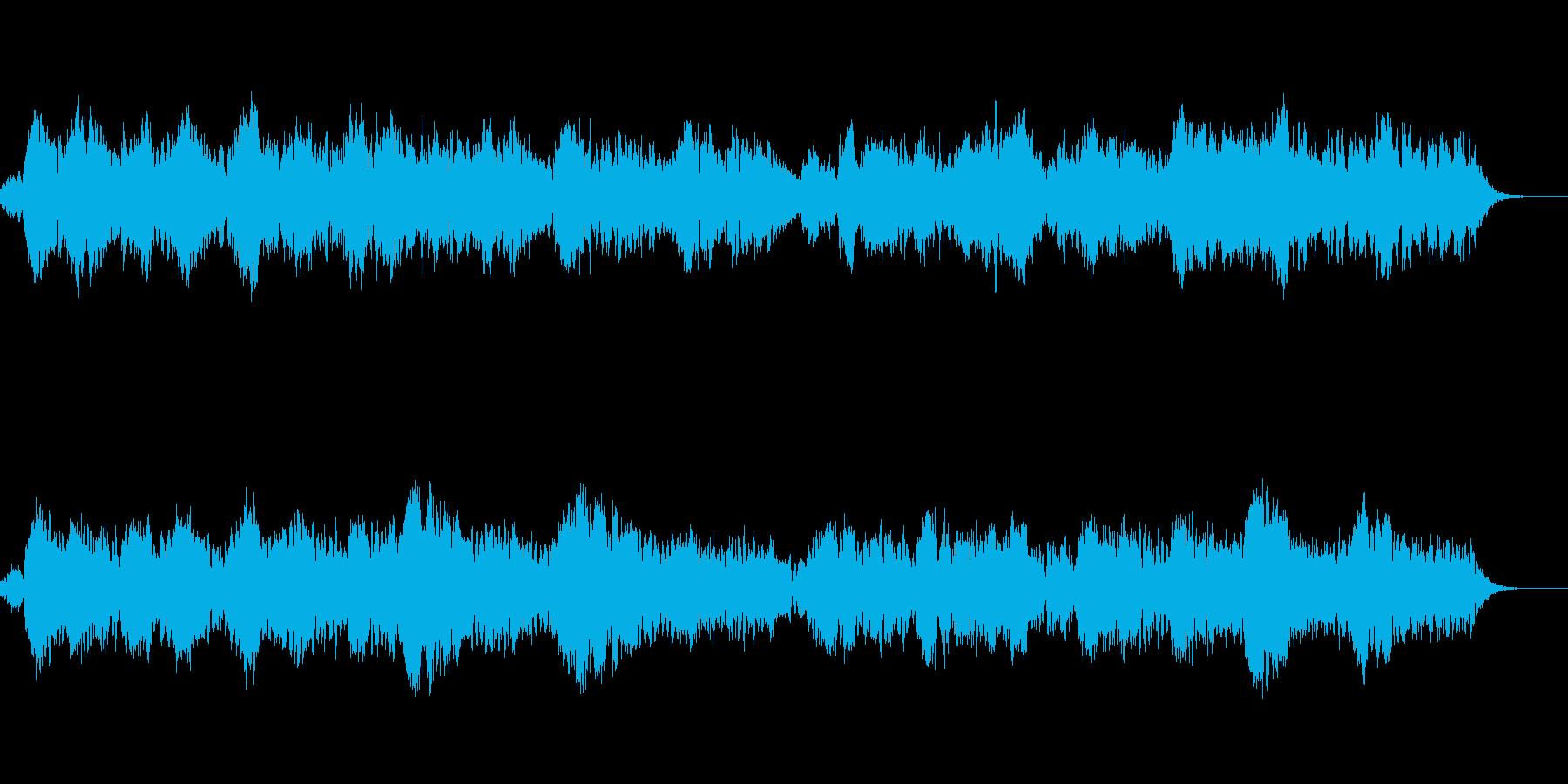 ヒーリング感のある優しい音色のBGMの再生済みの波形