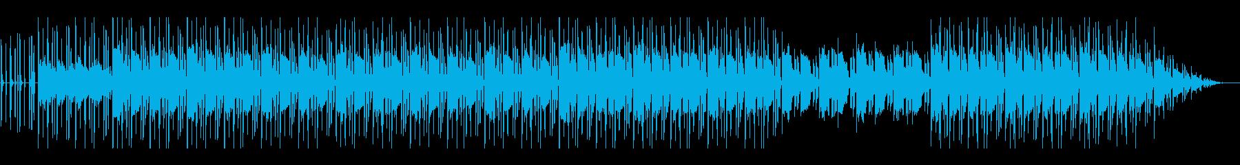 ほのぼのしたローファイ・チル・ビートの再生済みの波形