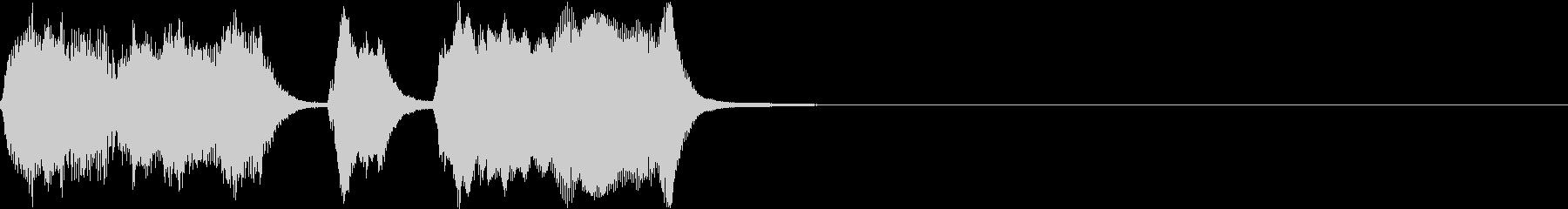 シンプル トランペット ファンファーレIの未再生の波形