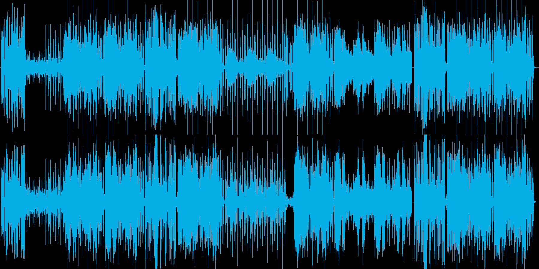 軽快なビッグバンドジャズの再生済みの波形
