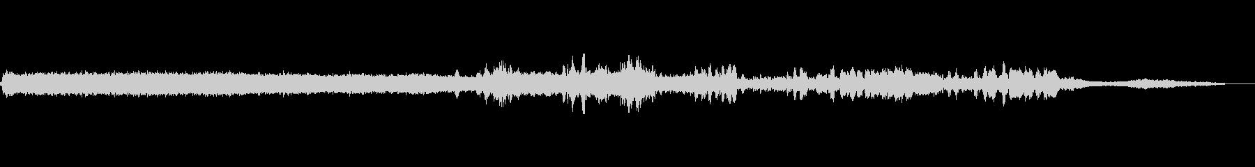 マシンソーバンドAの未再生の波形