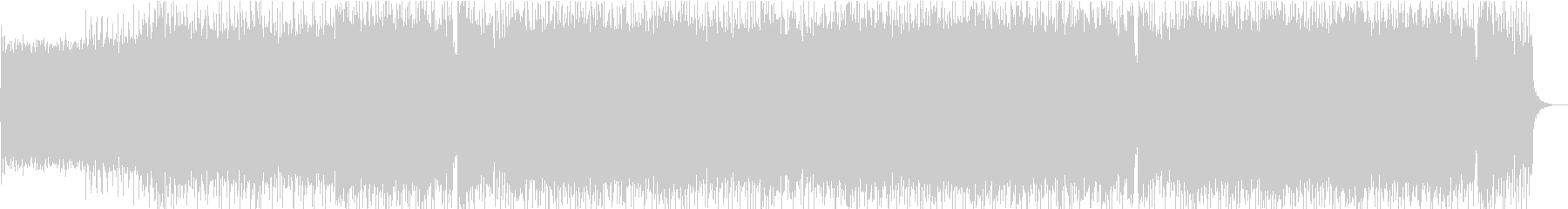 攻撃的なメロディックロックの未再生の波形